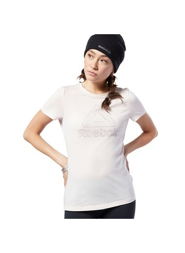 Reebok Gs Traced Delta Crew Tee Kadın T-Shirt Pembe